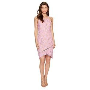 Adelyn Rae || Woven Lace Sheath Midi Dress